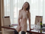 ULTRAFILMS Gorgeous Mila Azul gets really horny while doing some work and decided to take care of herself