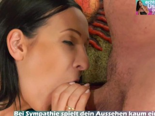 Deutsche dünne brünette milf bekommt mund creampie vom User