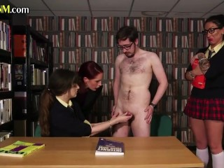 'CFNM student humiliate nerdy tutor'