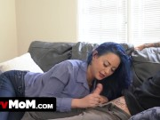 Naughty Step Mother Cheats On Her Husband With Her Perv Stepson And Swallows His Huge Loads Of Cum