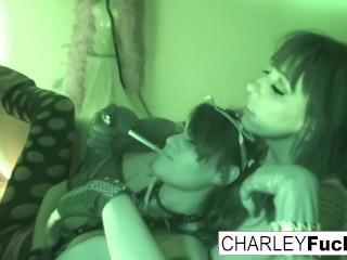 Charley and busty Alia Janine fuck