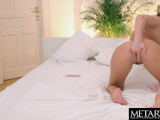 Watch this gorgeous girl get naked and stroke her perfect pussy