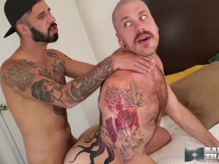 Hung Latino Hunk Barebacks Inked Bottom