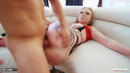 Rammed - Hot Blonde In Fishnets Fucked Hard
