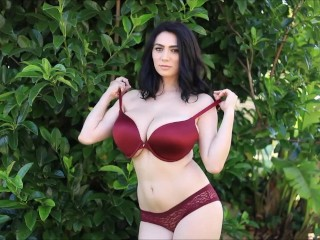 Behold with Luna Amor teasing you with her huge natural boobs